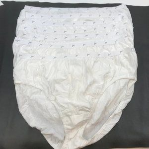 Just My Size Womens 7 Pack Cotton Brief Panty Whit